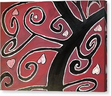 Tree Of Love Canvas Print by Paula Brown