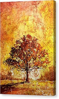 Tree On Fire Canvas Print by Ryan Fox