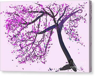 tree Pink tree Canvas Print by Go Van Kampen
