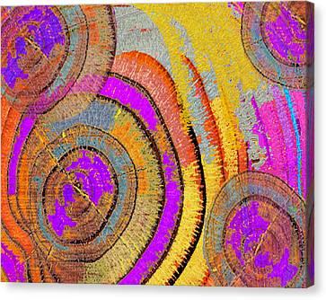 Tree Ring Abstract Horizontal Canvas Print by Tony Rubino