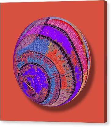 Tree Ring Abstract Orb Canvas Print by Tony Rubino