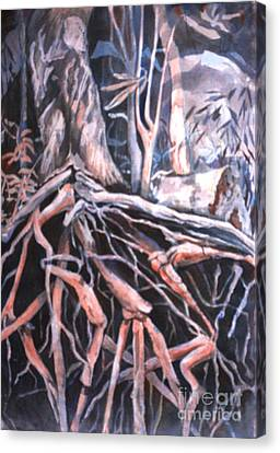 Tree Roots Canvas Print by Janet Felts