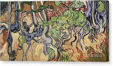 Tree Roots Canvas Print by Vincent Van Gogh
