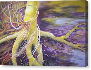 Tree Seeling Water Canvas Print by Sheliah Halderman