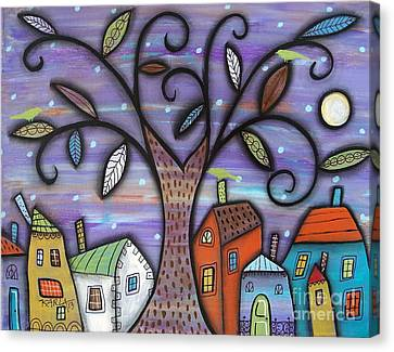 Tree Town Canvas Print by Karla Gerard