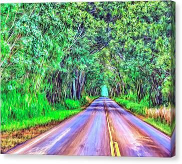 Tree Tunnel Kauai Canvas Print by Dominic Piperata