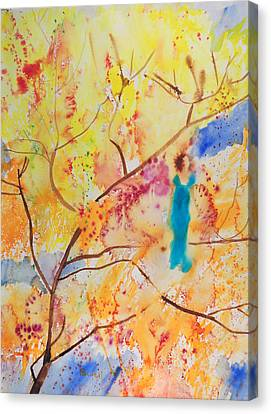 Tree Walking Canvas Print