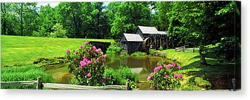 Trees Around A Watermill, Mabry Mill Canvas Print by Panoramic Images