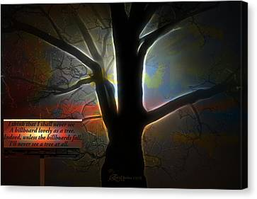 Trees - Featured In 'comfortable Art' Group Canvas Print by EricaMaxine  Price