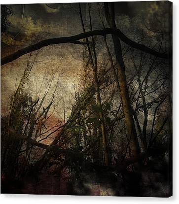 Canvas Print featuring the digital art Trees No. 5 by Andy Walsh