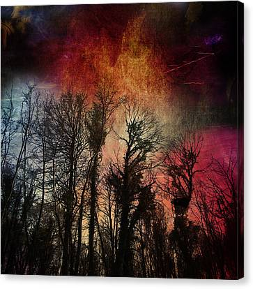 Canvas Print featuring the digital art Trees No.7  by Andy Walsh