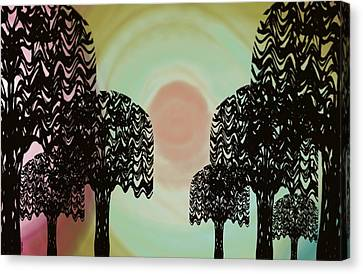 Trees Of Light Canvas Print by Christine Fournier