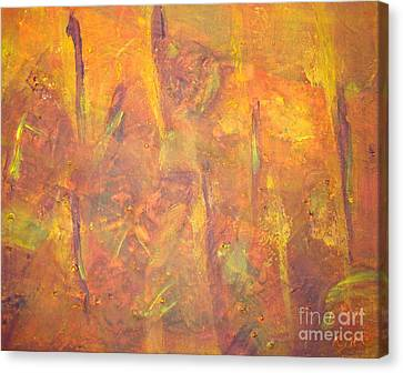 Trees Of The Field Canvas Print by Olivia  M Dickerson