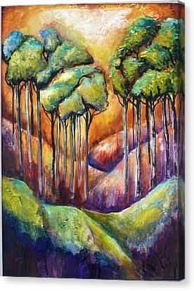 Trees Canvas Print by P Maure Bausch