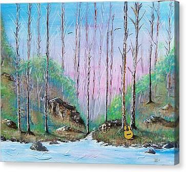 Trees With Cuatro Canvas Print by Tony Rodriguez