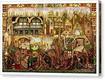 Treetown Canvas Print by Colin Thompson
