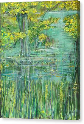 Canvas Print featuring the painting Treeversable by Cathy Long