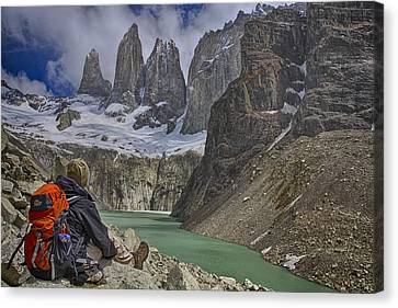 Trek To Torres Del Paine Canvas Print by Gary Hall