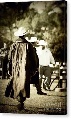 Trenchcoat Cowboy Canvas Print