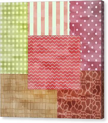 Trendy Patchwork Quilt Canvas Print by Tracie Kaska
