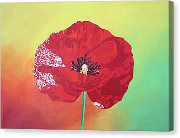 Trendy Poppy  Canvas Print by Tracey Harrington-Simpson