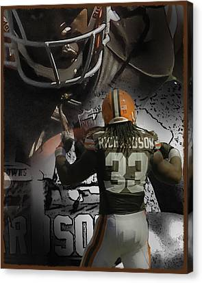 Trent Richardson Guns Canvas Print