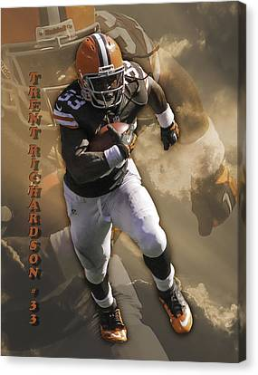 Trent Richardson Canvas Print