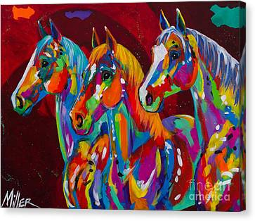 Tres Bellezas Canvas Print by Tracy Miller