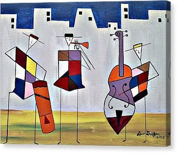 Tres Musicians Canvas Print