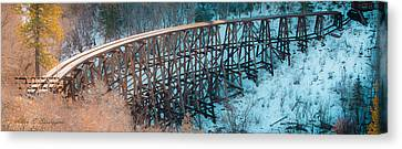 Trestle Rebuild Canvas Print by Allen Biedrzycki