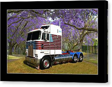 Canvas Print featuring the photograph Trev's Kenworth by Keith Hawley