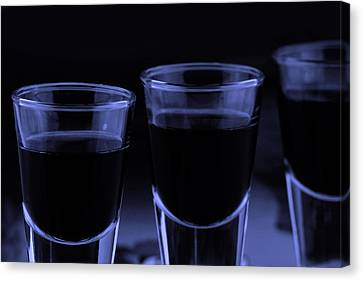 Trhee Shoot Glasses Canvas Print