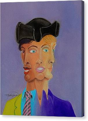Merging Canvas Print - Tri-face by R Neville Johnston