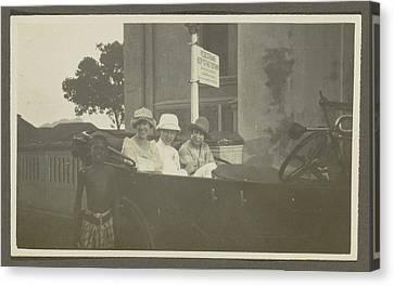 Triad Sitting In The Backseat Of A Car, Leading A Boy Canvas Print