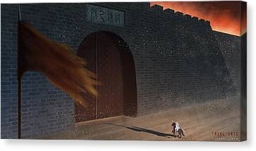 Trial Gate Canvas Print by Hiroshi Shih