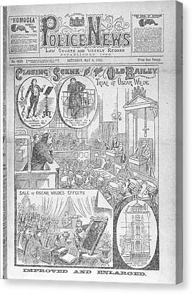 Court House Canvas Print - Trial Of Oscar Wilde by British Library