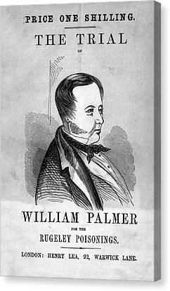 Trial Of William Palmer Canvas Print by National Library Of Medicine