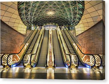 Triangeln Station Escalators Canvas Print by EXparte SE