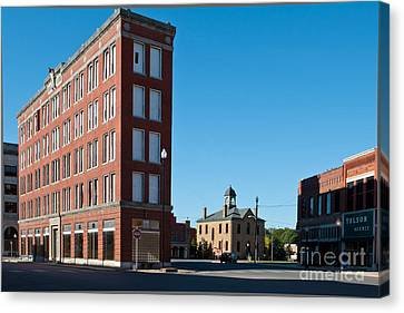Canvas Print featuring the photograph Triangle Building by Lawrence Burry