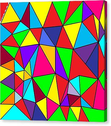 Triangles # 6 Canvas Print