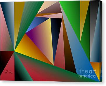 Triangles Canvas Print by Leo Symon