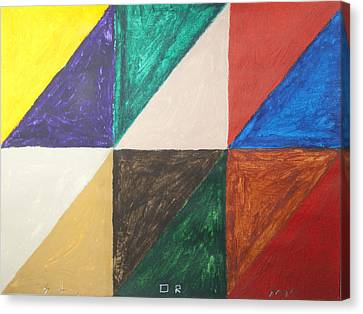 Triangles Canvas Print by Stormm Bradshaw