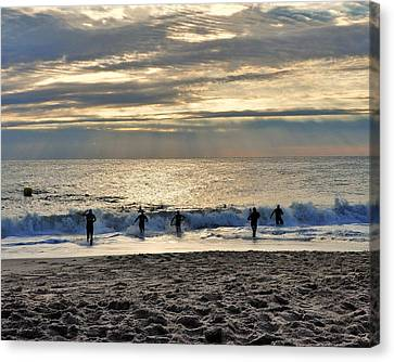 Triathalon Canvas Print by Kim Bemis