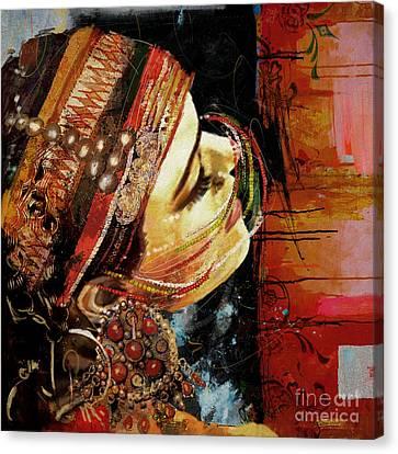 Tribal Dancer 3 Canvas Print by Mahnoor Shah