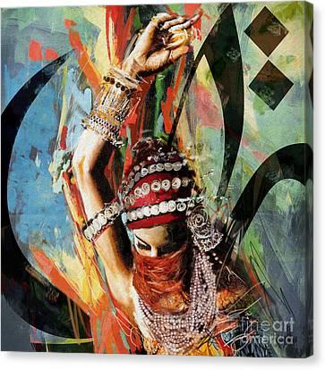 Tribal Dancer 4 Canvas Print by Mahnoor Shah
