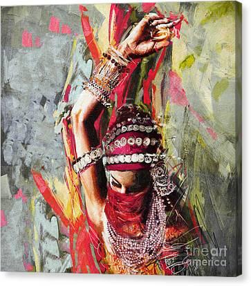 Tribal Dancer 5 Canvas Print by Mahnoor Shah