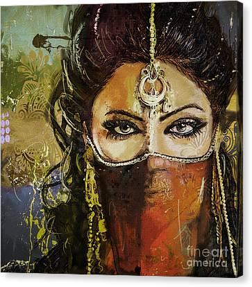 Tribal Dancer 6 Canvas Print by Mahnoor Shah