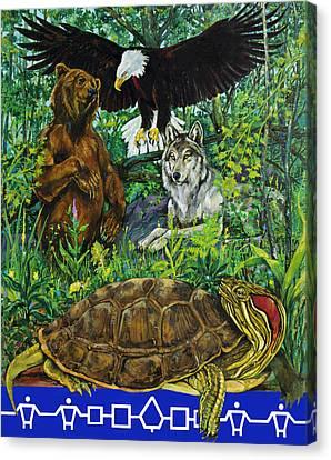 Tribal Gathering Canvas Print by Derrick Higgins