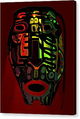 Tribal Mask Canvas Print by Natalie Holland