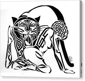 Tribal Prey Canvas Print by Terri Meredith